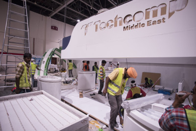 #Labbrand #Arablab2018 shows be building, exhibitions wielding!